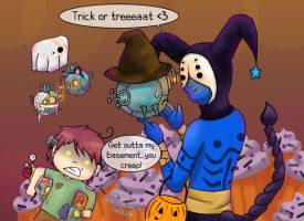 Snailord's Halloween Party by SapphirePoppy