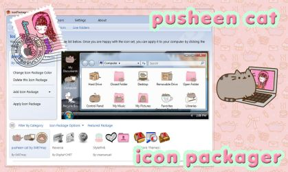 Tema de Pusheen Cat, IconPackager by may0487