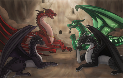 Friendly Conversation (Commission) by RhynoBullraq