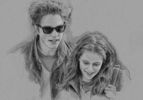 Edward and Bella by Lucky06GirL