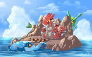 Groudon vs Kyogre!!