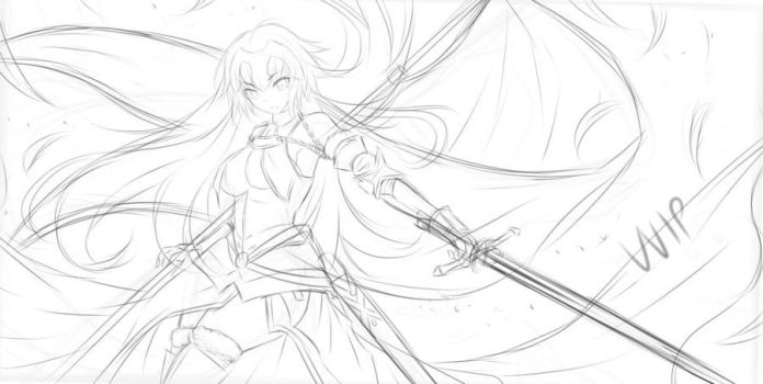 Jeanne d'Arc ( Ruler) Fate - WIP by Fhilippe124
