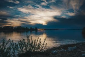 A evening at the chiemsee by Akxiv