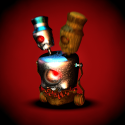 Fnaf world Fanmade Enemies : The Hydraclops by Popi01234