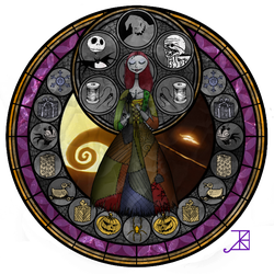 Stained Glass: Sally by Akili-Amethyst