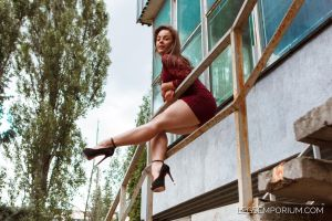 Cutie Alina with the Bodacious Legs - LE by LegsEmporium