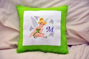 Tinkerbell Cushion 2 by VickitoriaEmbroidery