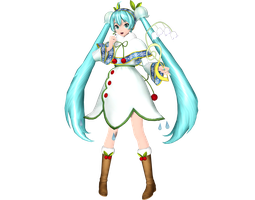 Project Diva Arcade Future Tone Snow Miku 2015 by WeFede