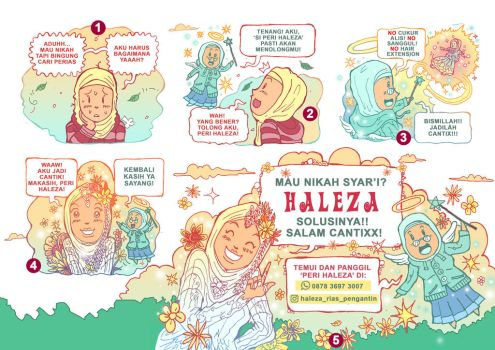 Commercial comic for Haleza Barber by mujix