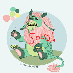 Lil Monster Dude $10 USD via paypal [OPEN] by Sunfloweradopts