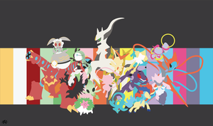 Mythical Pokemon Minimalist Wallpaper