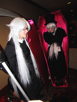 Undertakers and a Coffin by clockworkcosplay