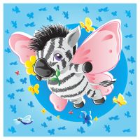 Zebra-butterfly vector by jkBunny