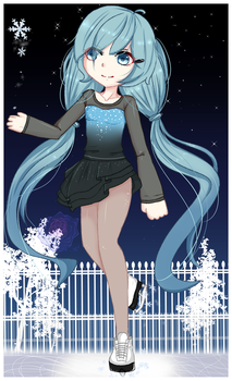 Snow Memories- Miku Hatsune (Fanart) by Rouss-Black