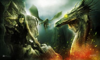 dragon slayer by queenphotoshop