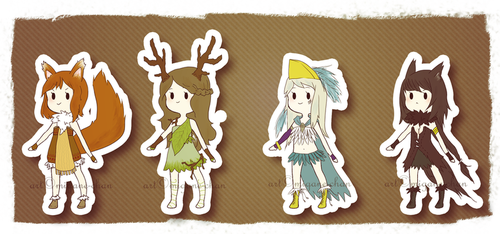 Chibi - Forest Animals - Set [CLOSED] by Migane-chan
