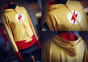 YOUNG JUSTICE: kid flash hoodie by envylicious