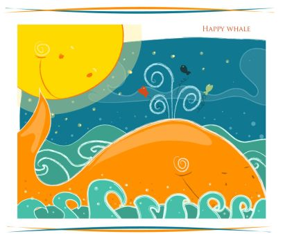 Happy whale by ivvi