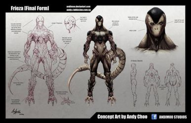 Frieza Final Form Concept Art by AndiMoo
