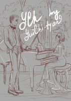 [closed] Ych auction couple with piano by YuiChi-tyan