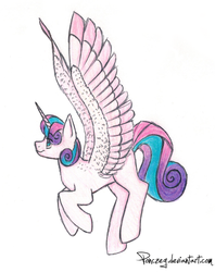 delayed flurry heart sketch thingy by Ponczeg