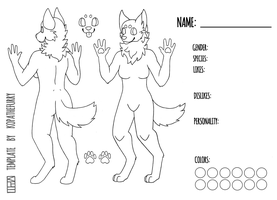FREE - Female Canine Template / Base by calypso-art