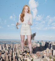 Sophie Turner - Destroying New York City by Natkatsz