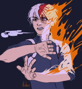 Todoroki by Hebes-drawings
