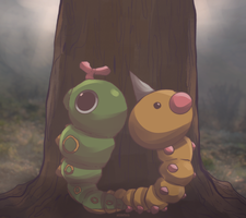 Day 678 and 679 - Caterpie and Beedle | Weedle