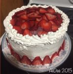Homemade strawberry cake by AliDee33