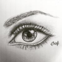 Eye drawing by Inkstandy