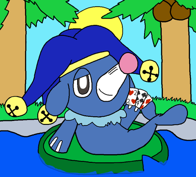 Puddles the Popplio chilling somewhere by Angelchao64