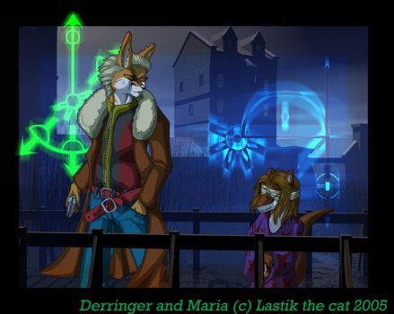 Derringer and Maria by lastik-the-cat