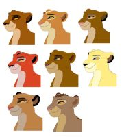 Adoptables lionesses by LillyO321