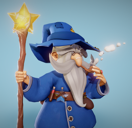Long Bearded Mage by Vederant