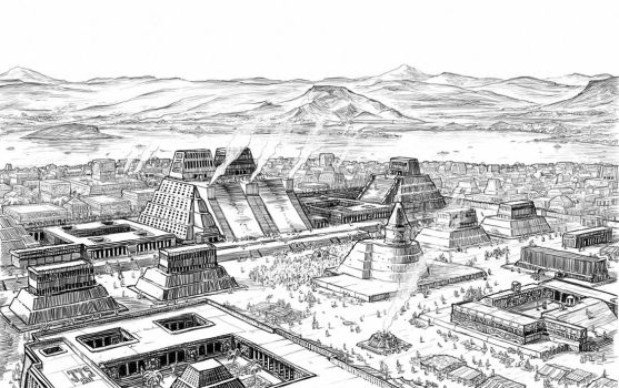 Tenochtitlan by artbyjts