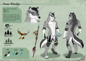 Kuwa Wendigo - Character Sheet Commission by StriderDen