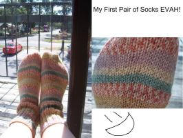 FIRST PAIR OF SOCKS by cyla-knits