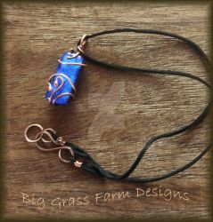 Dichroic Glass and Copper Necklace by bgfdesigns