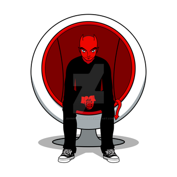 D for Devil on Ball Chair by johnpgranados