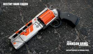 Destiny Hand Cannon Replica Prop by JohnsonArmsProps