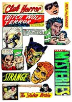 Horror Comics - Digital Collage Sheet by FidgetResources