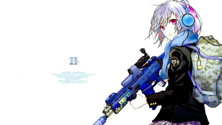 22695 Anime Girls Anime Girls With Guns Edited  by nayster24