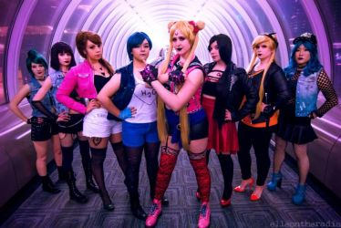Biker/punk Sailor Scouts! by Rachelroseanne