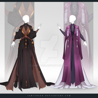 (CLOSED) Adoptable Outfit Auction 288-289 by JawitReen
