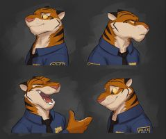 Commission: Jack Lewis's Expression Sheet by Temiree