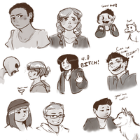 Until dawn doodlings by Channydraws
