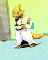 Doctor Alphys by ShadowClawZ