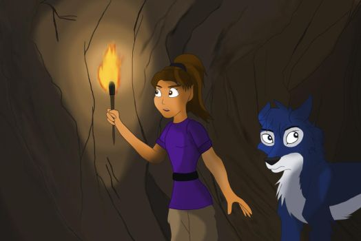 Discovering a cave by dolphin19