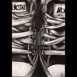 Charcoal Converse by Narniakid
